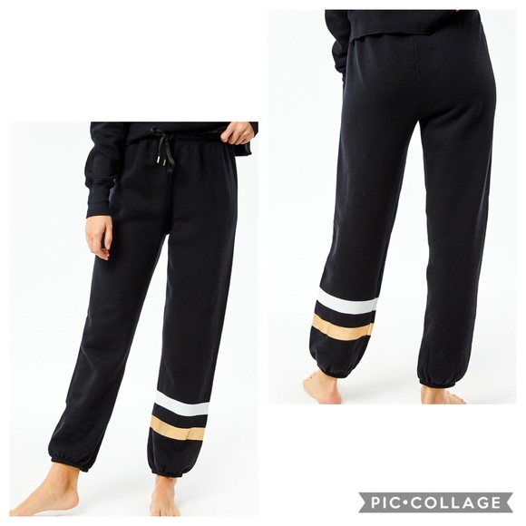 SUNDRY Womens Stripes Boyfriend Sweatpant